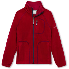 Columbia Fast Trek II Full Zip Jacket Youth pomegranate/nocturnal